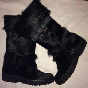 Pajar Laura Goat Fur Boots Sz 38